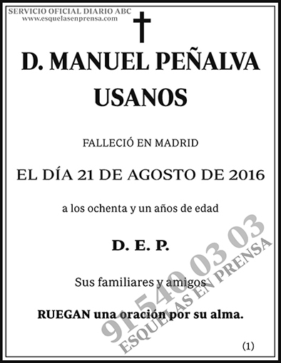 Manuel Peñalva Usanos